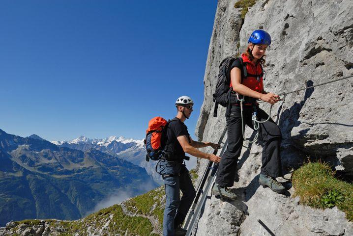 Der Tälli Klettersteig liegt in der Nähe des Brienzer Sees und ist nichts für Anfänger.