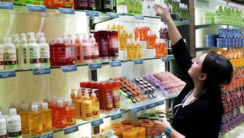 Ganz schön bunt: The Body Shop.