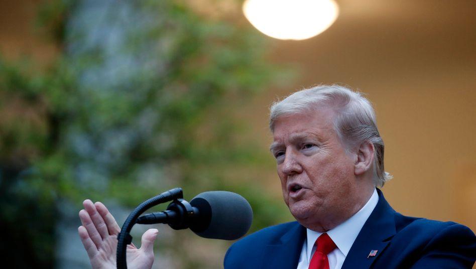 US-Präsident Donald Trump am Dienstag im Garten des Weißen Hauses