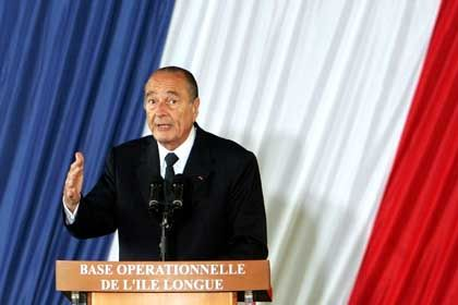 """Jaques Chirac: """"Flexibler"""" Einsatz von Atomwaffen"""