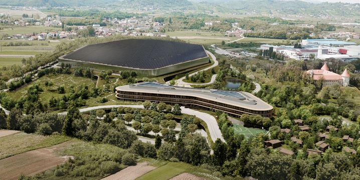Nicht so groß wie Teslas Gigafactory, doch viel extravaganter: Entwurf des neuen Rimac-Campus