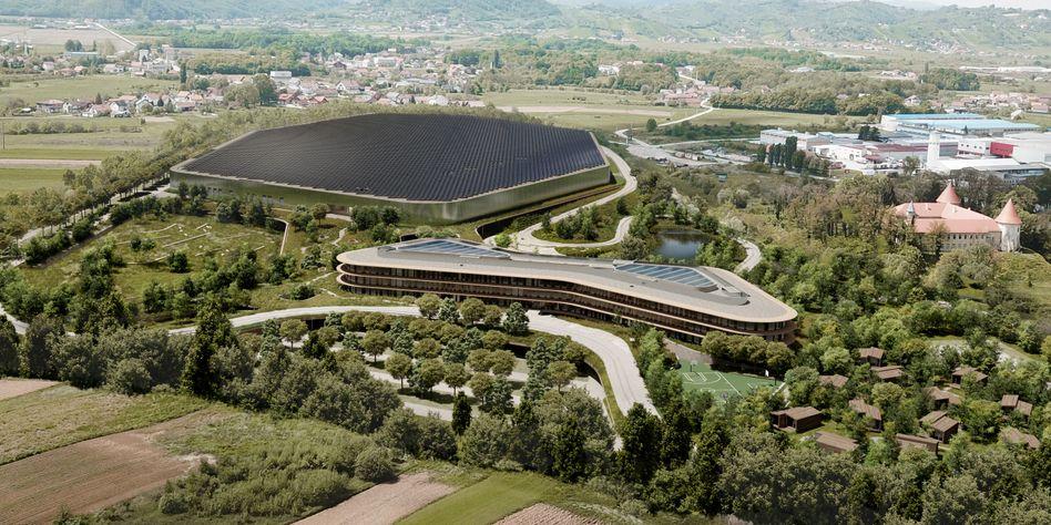 Rimac-Campus: Das neue Hauptquartier des Herstellers für elektrische Sportwagen misst 200.000 Quadratmeter und wird mindestens 200 Millionen Euro kosten
