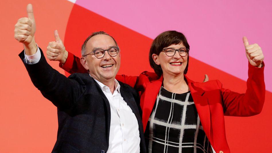 Künftige SPD-Chefs Saskia Esken, Norbert Walter-Borjans: Drei Gründe sprechen für einen Abgesang