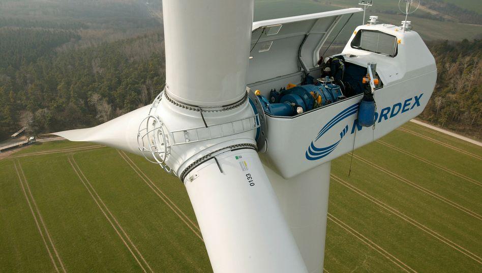 Windkraftturbine: Nordex macht nur noch 10 Prozent seines Geschäfts in Deutschland
