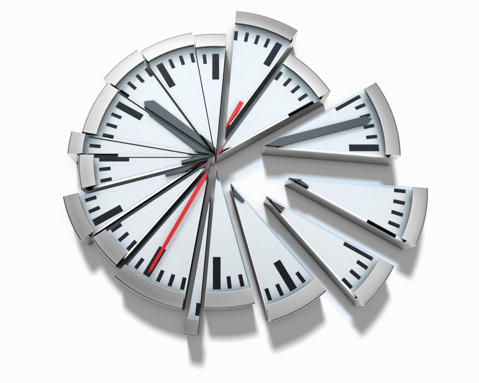 Uhr / Teile / Zeit / Einteilung