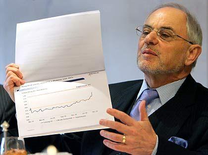 """""""Wir brauchen beide Seiten"""":Merck-Aufsichtsratschef Simson erläutert den Kurs der Schering-Aktie"""