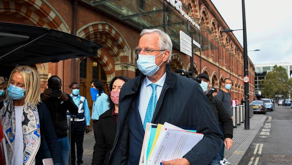 EU-Chef-Verhandler Barnier vor einigen Tagen auf dem Weg zu seinem britischen Gesprächspartner Frost in London