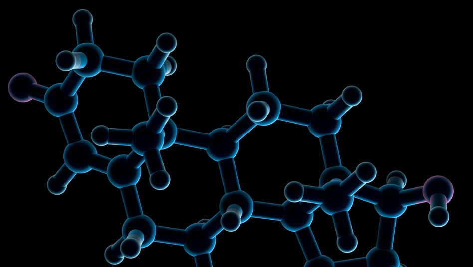 Ein Testosteron-Molekül