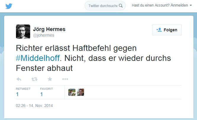 Stern-Redakteur Jörg Hermes auf Twitter