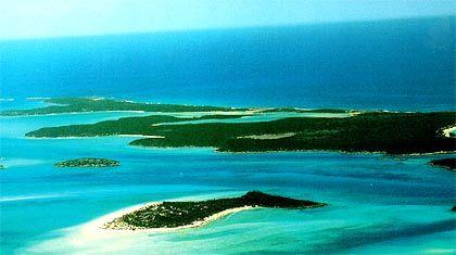 Bock Cay, Bahamas (Karibik), Archipel von sieben Inseln, Größe: 3,2 Millionen Quadratmeter, Kaufpreis: 13,2 Millionen US-Dollar