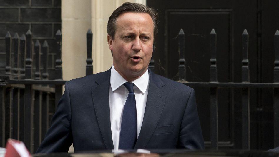 """Premier Cameron: """"Britische Unterstützung nicht hinnehmbar"""""""