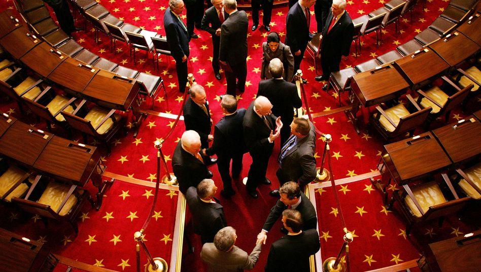 US-Senatoren im Plausch: Staatspleite vorerst vertagt