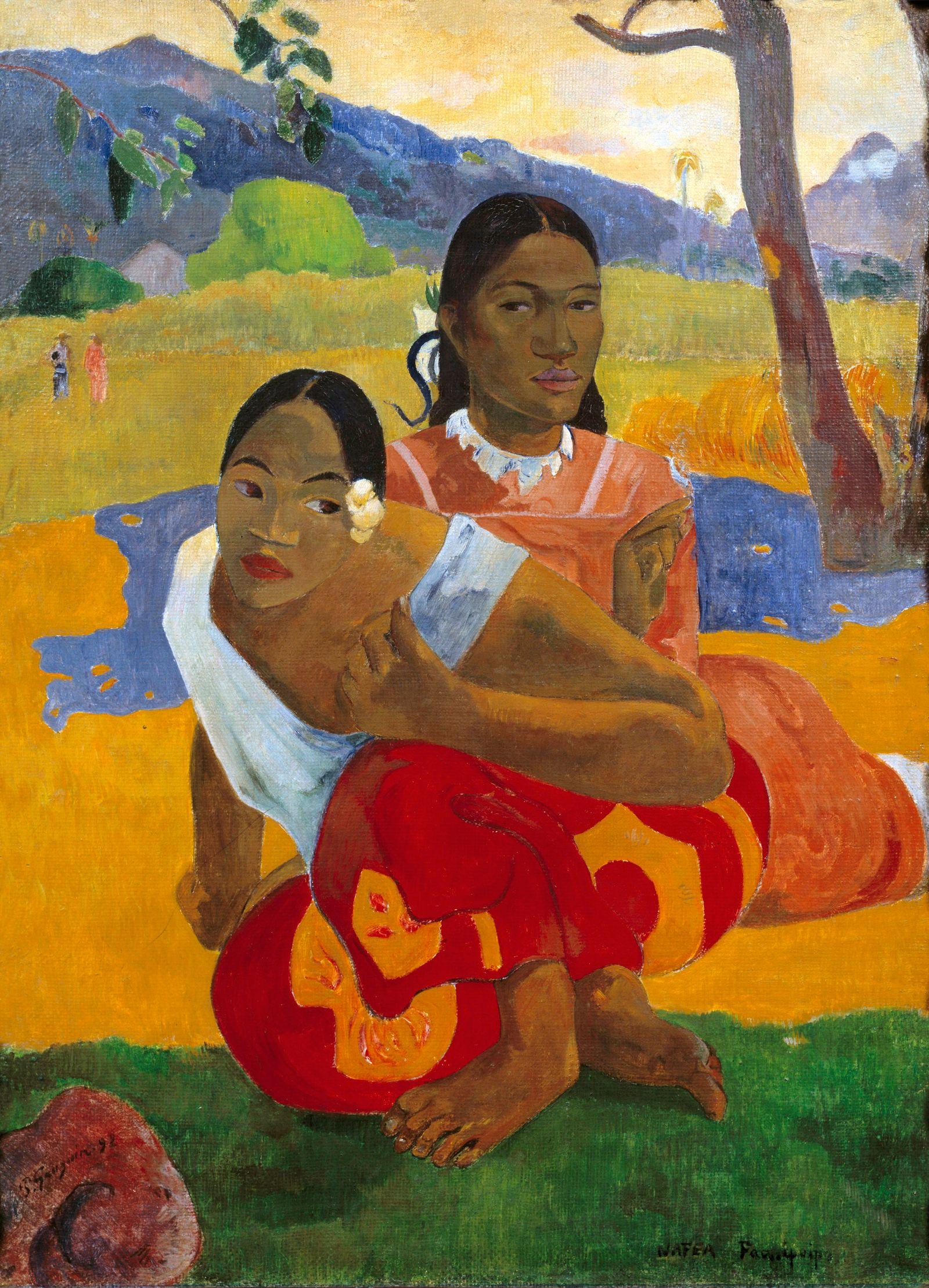 """NICHT MEHR VERWENDEN! - EINMALIGE VERWENDUNG Paul Gauguin / """"Nafea Faa Ipoipo"""": When will you marry ?"""