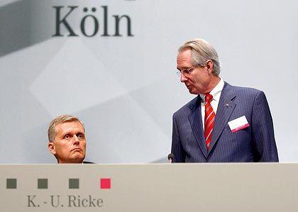 Lenker und Denker: Kai-Uwe Ricke mit Aufsichtsratschef Klaus Zumwinkel