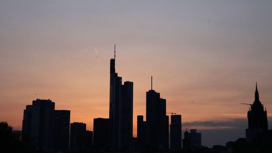 Zentrum der Geldwirtschaft: Die Skyline von Frankfurt