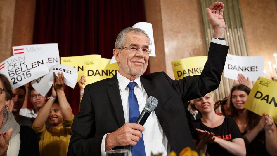 Hauchdünn gewonnen: Alexander Van der Bellen