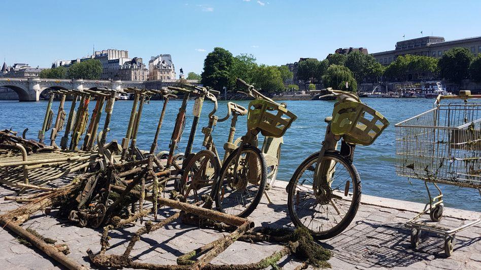 Elektro-Tretroller (Trottinette) in Paris: Viele von ihnen landen in der Seine