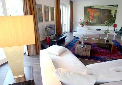 Eines der teuersten Wohnzimmer in Berlin: Parkside-Appartement im Beisheim-Center