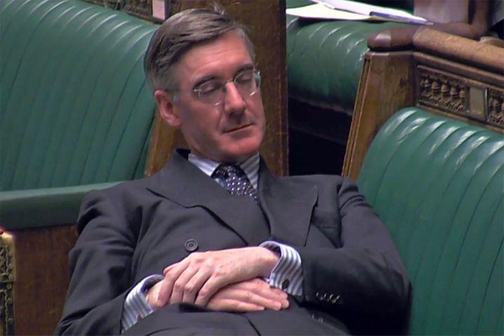 Der x-te Aufreger in der Karriere des Jacob Rees-Mogg: Bei einer Debatte Anfang September 2019 simulierte er im Parlament ein Nickerchen
