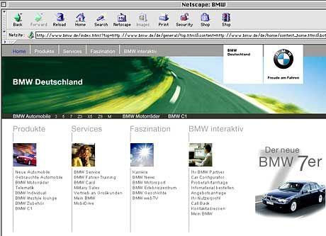 Gebrandmarkt: BMW-Webseite