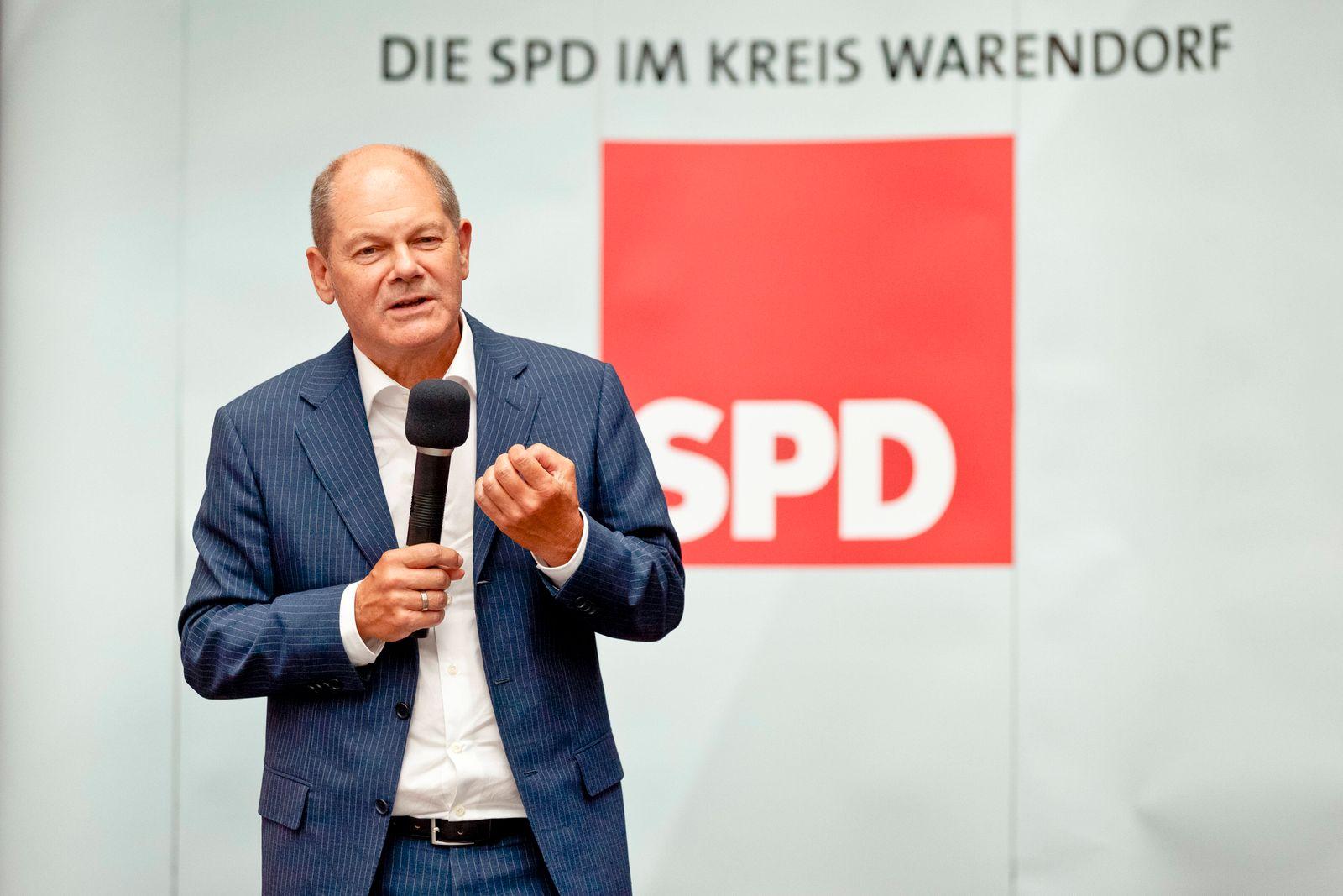SPD-Kanzlerkandidat Olaf Scholz Bundesfinanzminister Olaf Scholz In der alten Zeche Westfalen Wahlkampfveranstaltung de