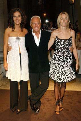 Im Kreise seiner Lieben: Giorgio Armani mit Nichte Roberta (li.) und Freundin Isabelle Harvey-Witt