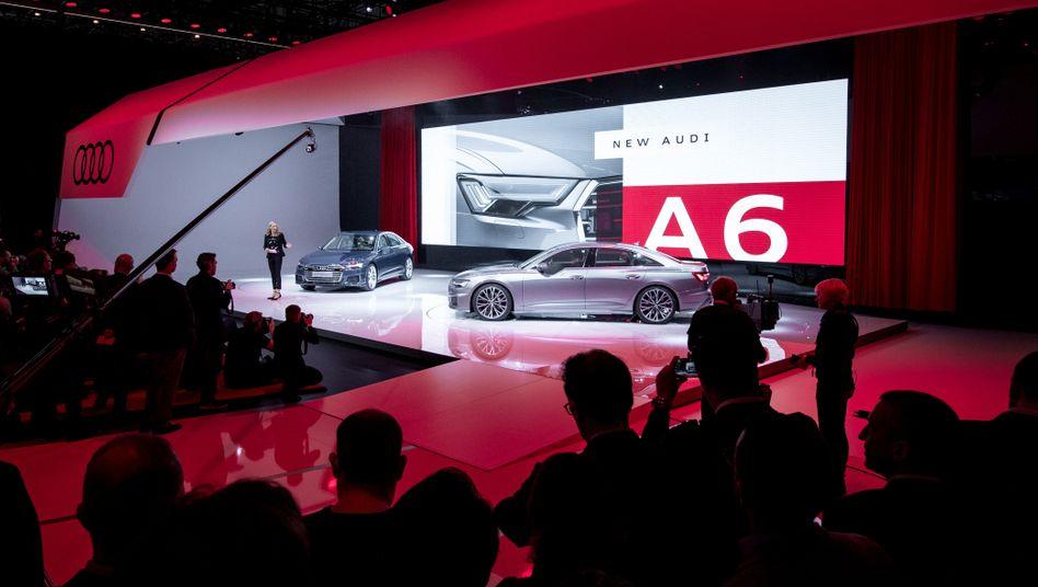 Lange Jahre für die große Show gut: Der Autosalon in Genf (hier eine Audi-Präsentation aus dem Jahr 2018)