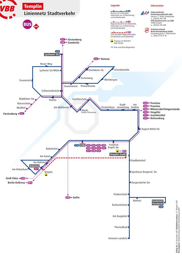 Liniennetz von Templin (zum Vergrößern bitte auf das Bild klicken)