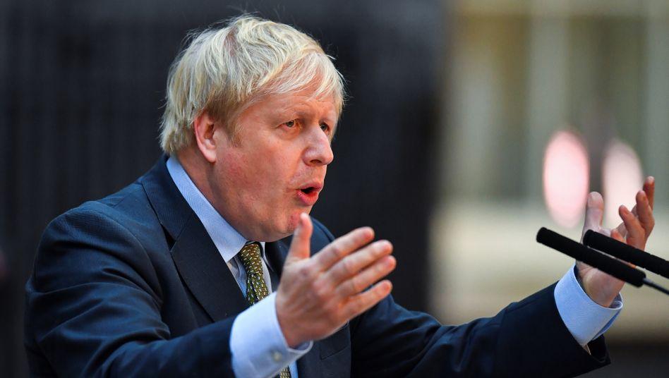 Wegen Covid-19 im Krankenhaus: Großbritanniens Premier Boris Johnson.