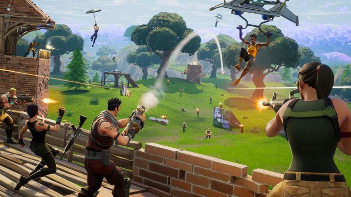 """Szene aus Fortnites """"Battle Royale"""": Kostenlose Spiele wie Fortnite oder Apex Legends werden von Millionen gespielt"""