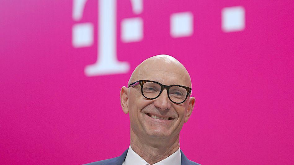 Läuft bei ihm: Telekom-Chef Tim Höttges übertrifft mit den Quartalszahlen die Erwartungen