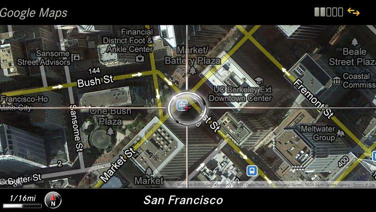 Google Maps im Mercedes: Daimler will auf eine sparsame Daten-Weitergabe achten
