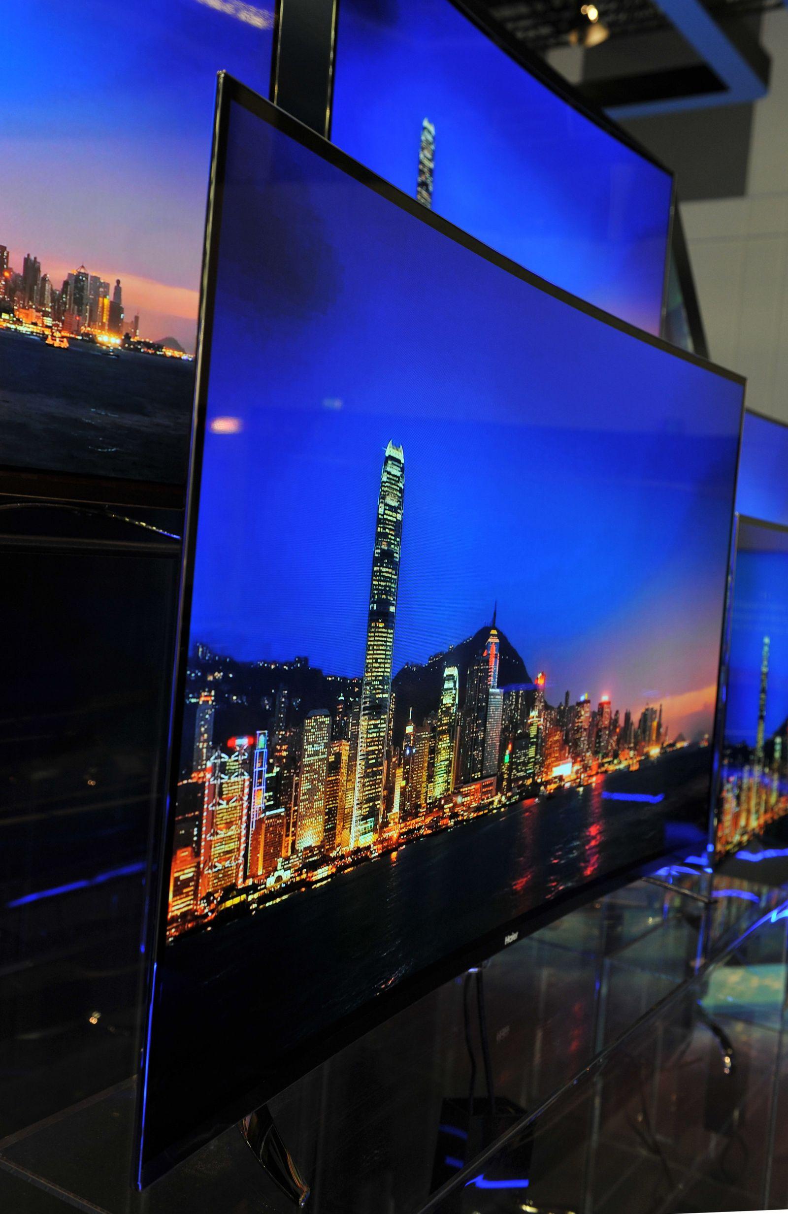 EINMALIGE VERWENDUNG Kurven und ultraviele Pixel: Das bringen die neuen Fernseher