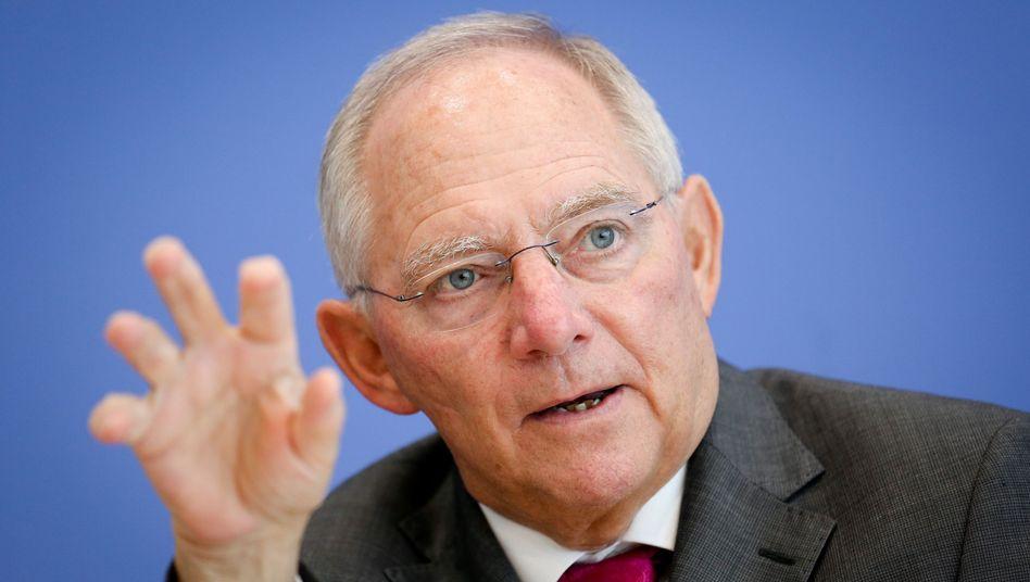 """Bundesfinanzminister Wolfgang Schäuble: """"Der Staat muss auf nicht gewollte Steuermehreinnahmen zugunsten der Bürger verzichten."""""""