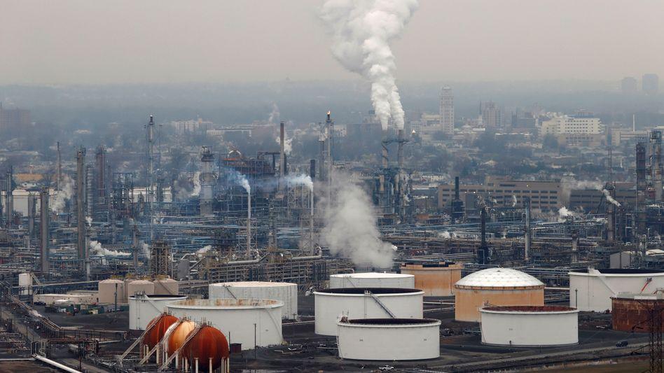 Raffinerie von Phillips 66 in Linden, US-Staat New Jersey