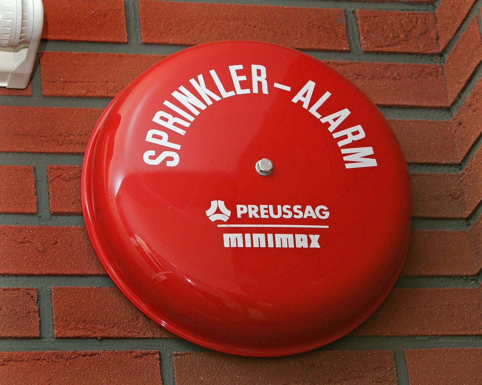 EINMALIGE VERWENDUNG Alarm-Glocke Minimax