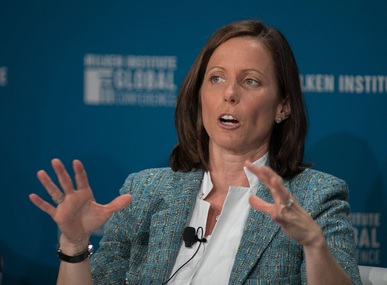 May 1 2017 Beverly Hills California U S Adena Friedman during the 2017 Milken Institute Globa