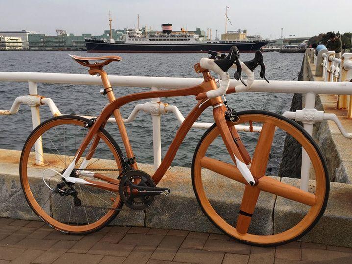 Fahrrad aus der Yachtbauerfamilie: Holzbike von Sanomagic