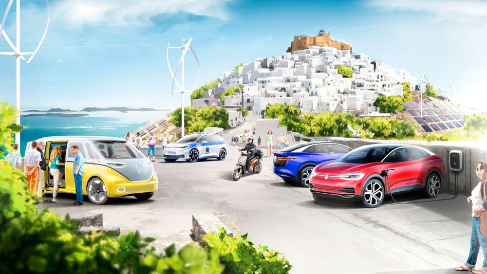 Auf dem Scribble steht schon Volkswagens Traum von einer durch und durch elektrifizierten Insel