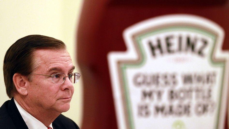 Lebensabend gesichert: William Johnson, derzeit noch Chef des Ketchupherstellers Heinz, soll ein Abfindungspaket im Wert von insgesamt 213 Millionen Dollar bekommen