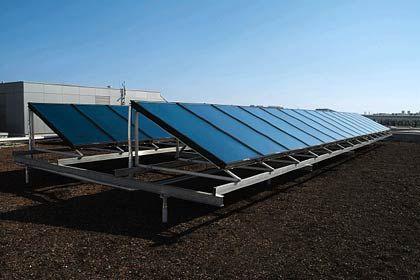 Zukunftsträchtig: Die Solarthermie gilt als vielversprechende Form der Energiegewinnung