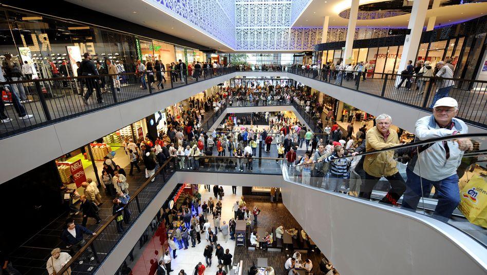 Einkaufszentrum in Dresden: Vor allem im Einzelhandel ist die Stimmung gut