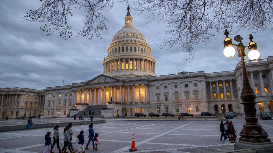 Das Kapitol in Washington ist der Sitz des Kongresses.