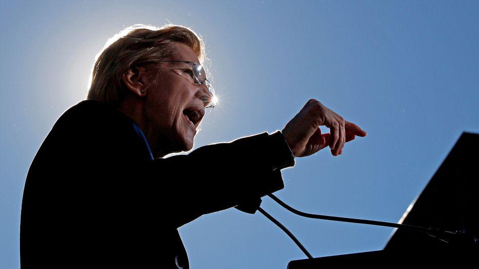 Kampfansage gegen Korruption: Präsidentschaftsbewerberin Elizabeth Warren.