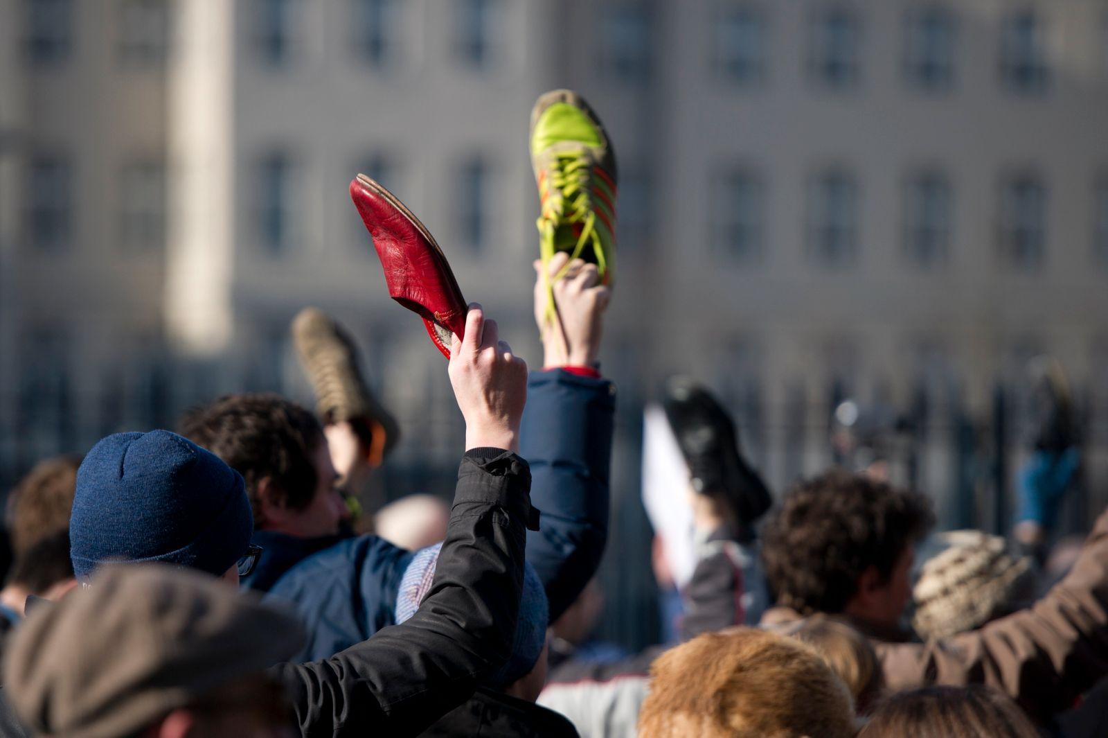 NICHT VERWENDEN Guttenberg / Demonstration / Berlin