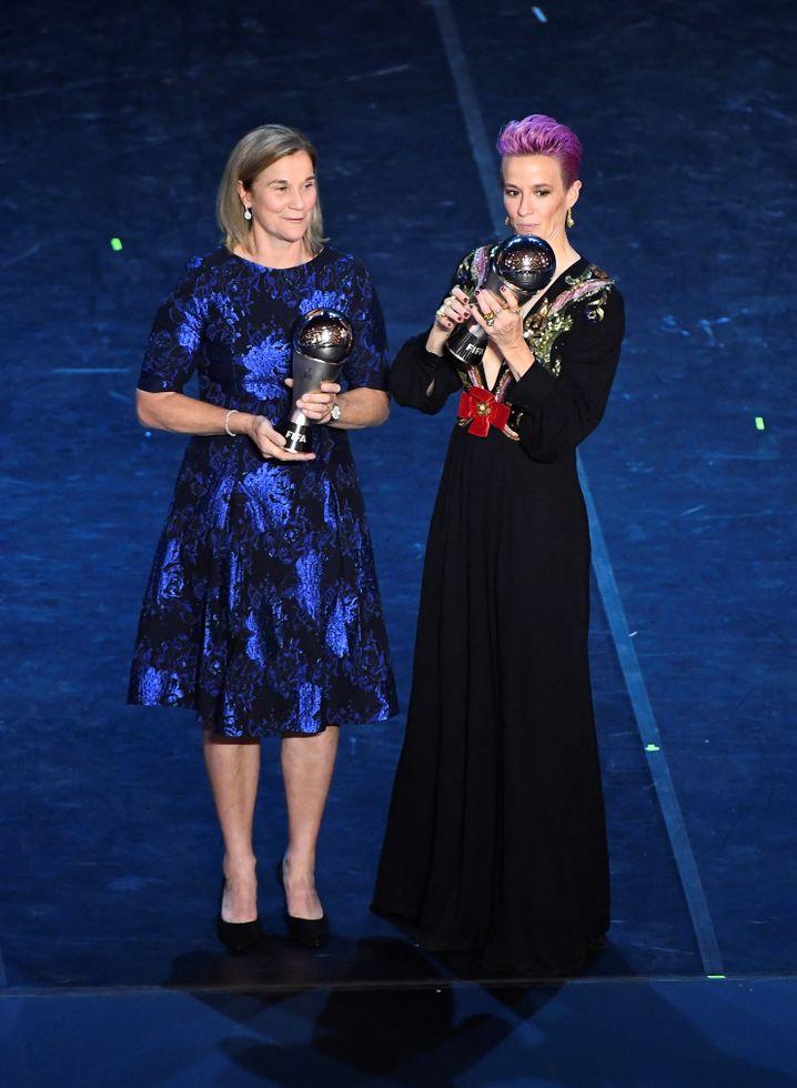 Auch Megan Rapinoe und Jill Ellis wurden ausgezeichnet