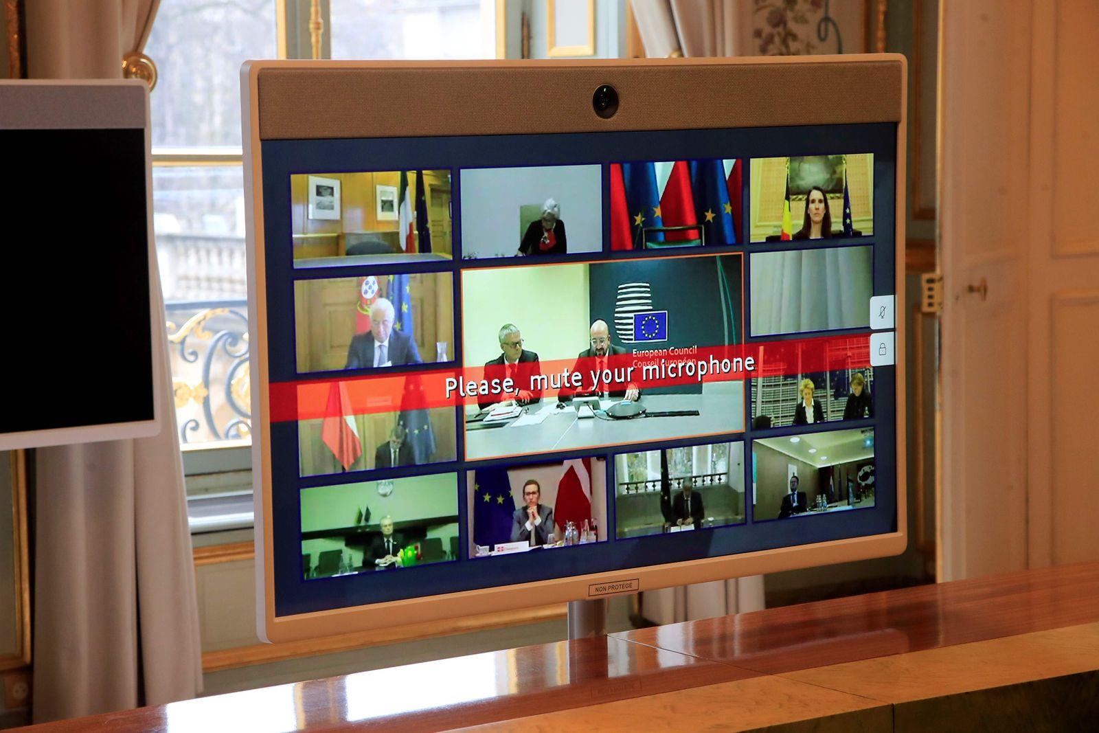 Europäische Union / Gipfel / Videokonferenz