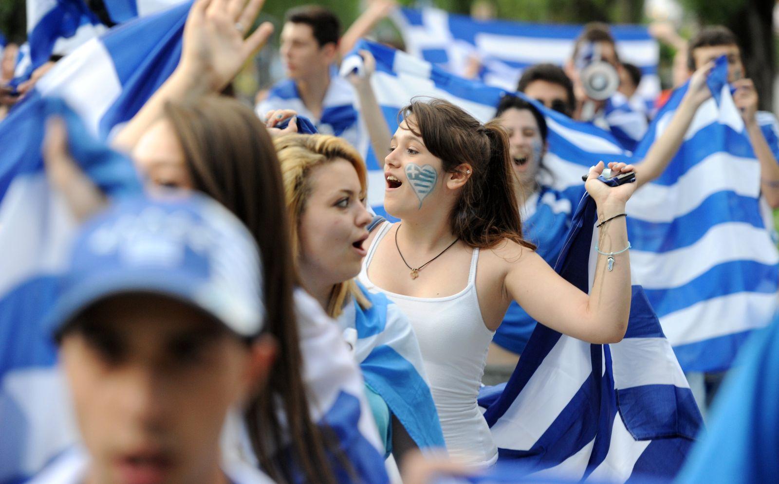 Griechische Fußballfans