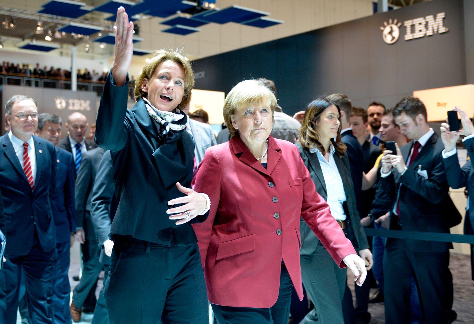 Martina Koederitz (IBM); Merkel