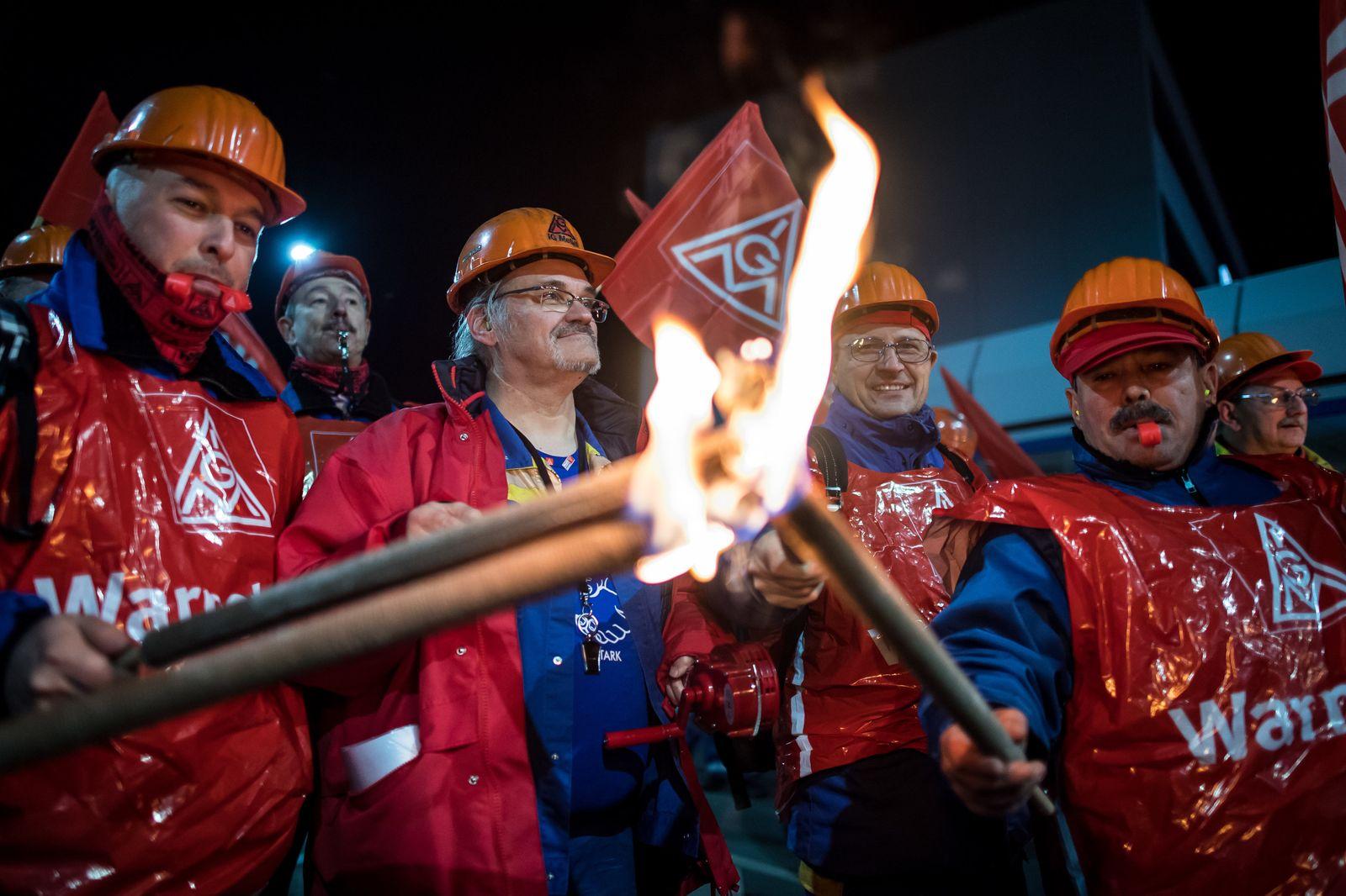 IG Metall / Warnstreiks / Metallindustrie